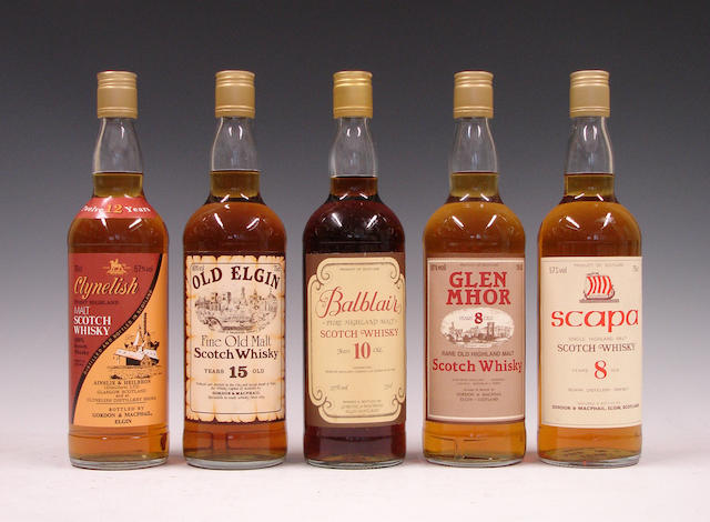 Old Elgin-15 year old  Clynelish-12 year old  Balblair-8 year old  Glen Mhor-8 year old  Scapa-8 year old