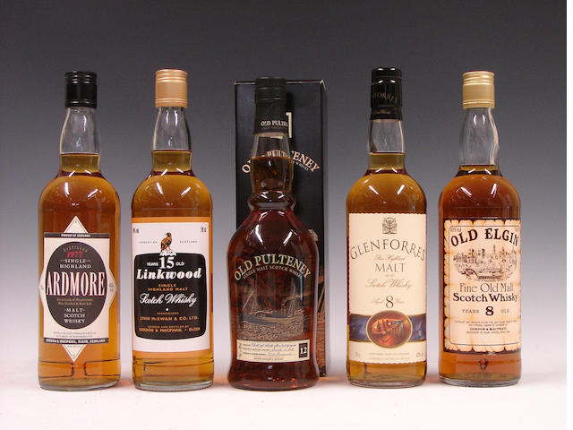 Ardmore-1977Linkwood-15 year oldOld Pulteney-12 year oldGlenforres-8 year oldOld Elgin-8 year old