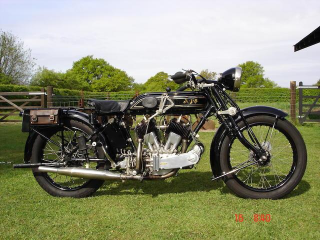 1929 AJS 996cc Model M Frame no. 45682 Engine no. M2-45982