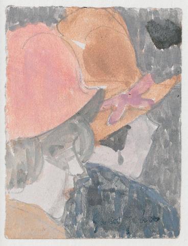 Gwen John (British, 1876-1939) Two female heads 6.7 x 5 cm. (2 3/4 x 2 in.)