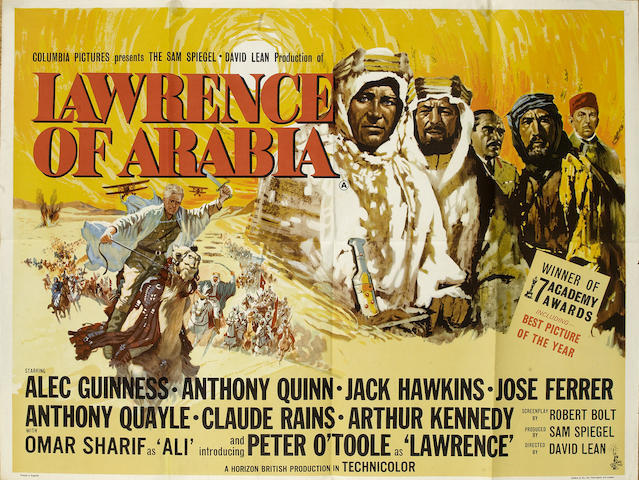 Lawrence of Arabia, Columbia Pictures, 1962,