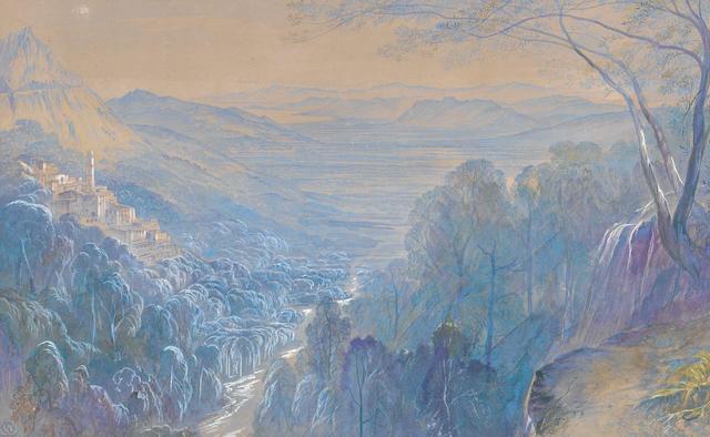 Edward Lear (British, 1812-1888) Avápessa, Corsica