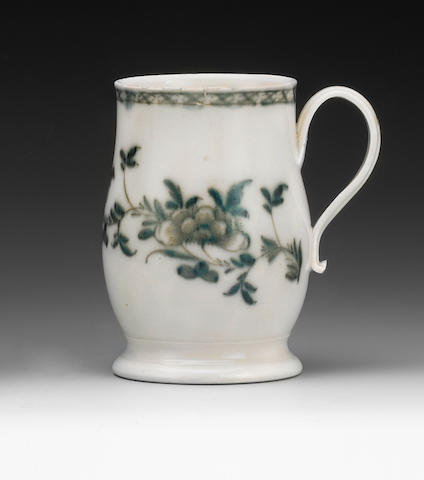 A problem scotia-footed mug, probably Liverpool, circa 1760-65
