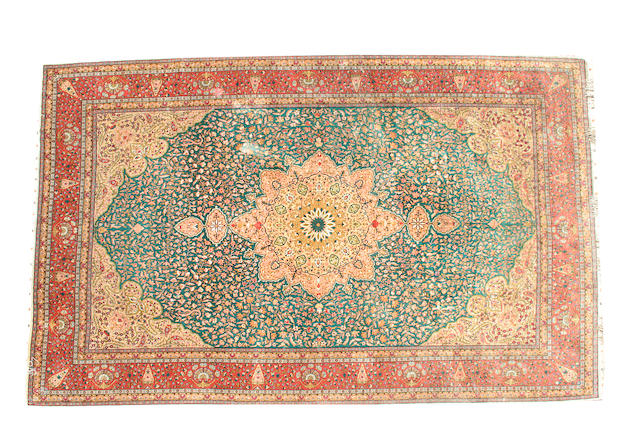 A silk Kayseri carpet West Anatolia, 336cm x 223cm