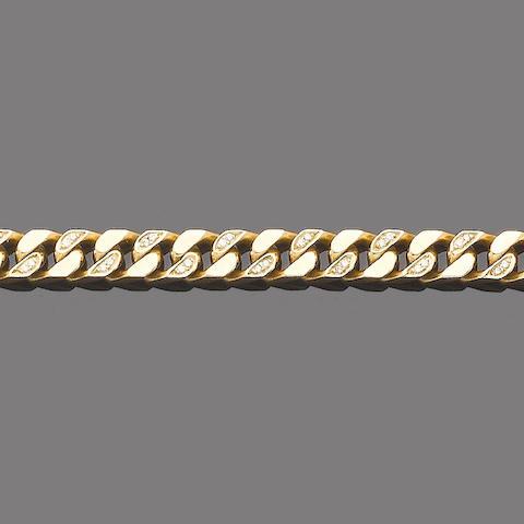A gold and diamond bracelet, by Kutchinsky,
