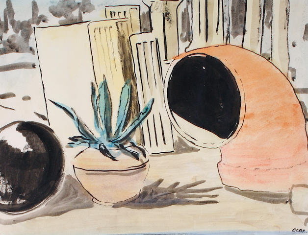 Eileen Agar (British, 1899-1991) Pot plant