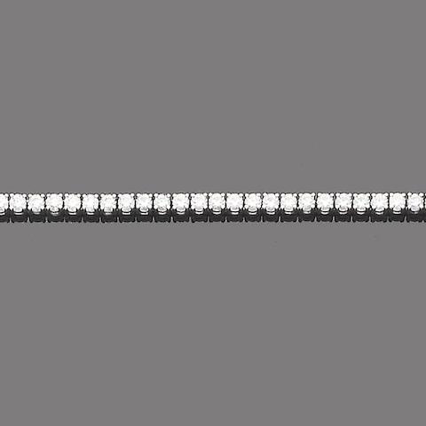 A diamond line bracelet, by De Beers