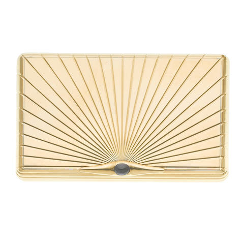 A gold and sapphire-set cigarette case, by Van Cleef and Arpels,