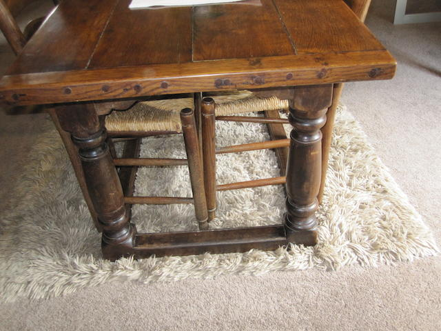 A 17th century style oak refectory style table
