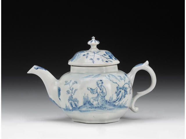 An important Limehouse teapot and cover, circa 1746-48