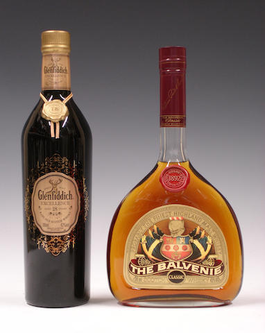 Glenfiddich Excellence-18 year old  The Balvenie Classic-18 year old