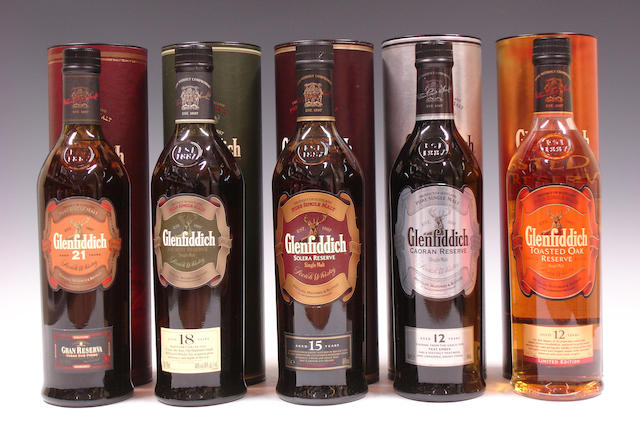 Glenfiddich-21 year oldGlenfiddich-18 year oldGlenfiddich-15 year oldGlenfiddich-12 year oldGlenfiddich-12 year old
