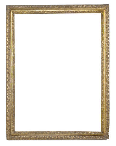 An Italian 17th Century carved and gilded Salvator Rosa frame