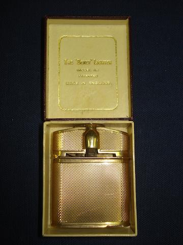 A 9ct gold Beney cigarette lighter