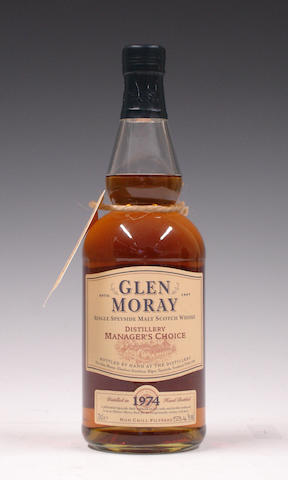 Glen Moray Distillery Manager's Choice-1974
