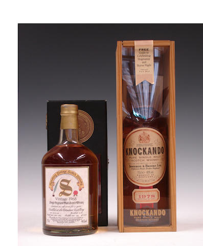 Edradour-21 year old-1968  Knockando-1978