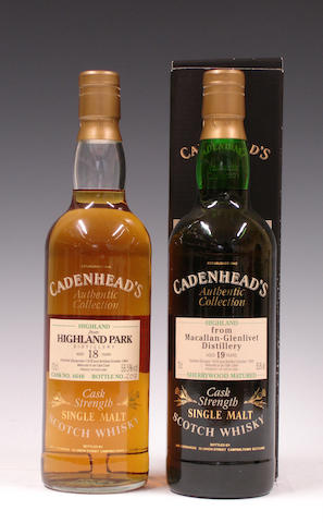 Highland Park-18 year old-1976  Macallan-Glenlivet-19 year old-1976
