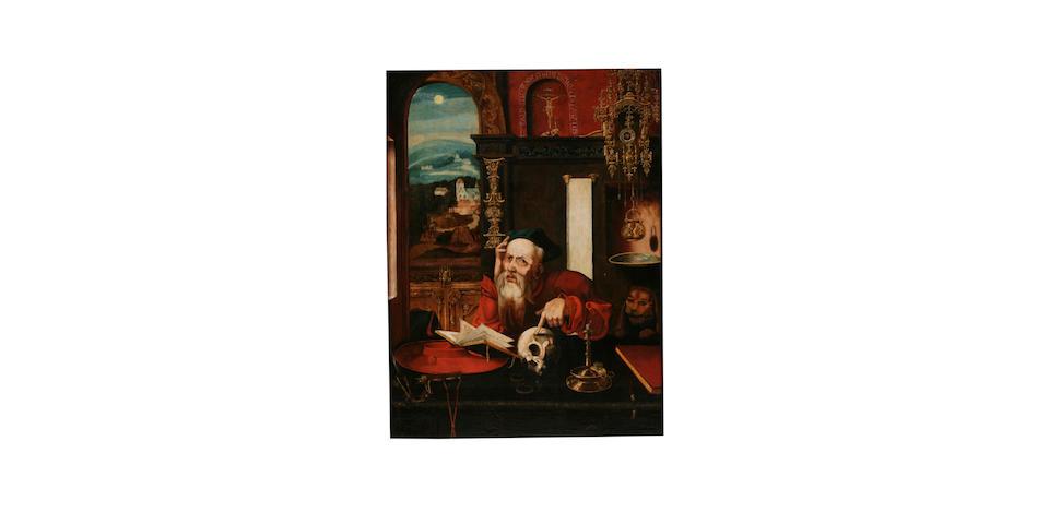Circle of Pieter Coecke van Aelst the Elder (Flemish, 1502-1550) Saint Jerome in his study,
