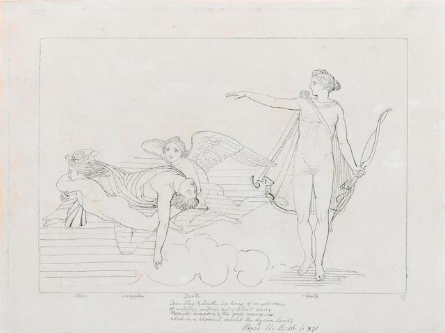 John Flaxman (British, 1755-1826) Two drawings