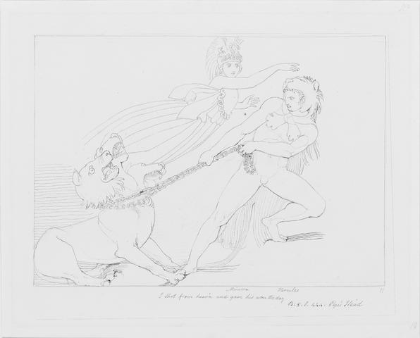 John Flaxman (British, 1755-1826) Two drawings