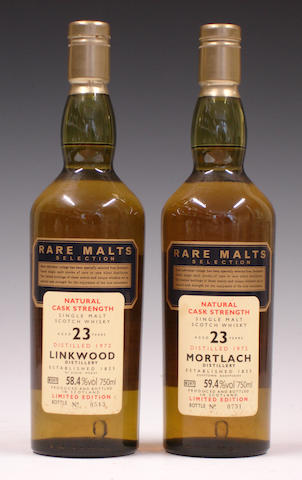 Linkwood-23 year old-1972  Mortlach-23 year old-1972