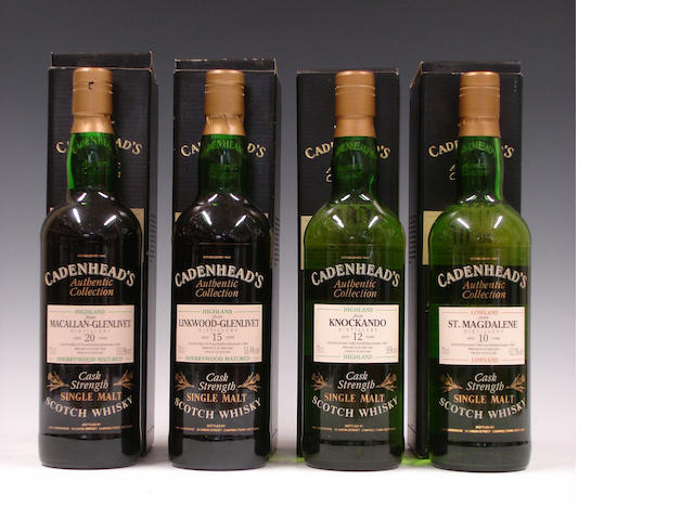Macallan-Glenlivet-20 year old-1974Linkwood-Glenlivet-15 year old-1979Knockando-12 year old-1980St. Magdalene-10 year old-1982