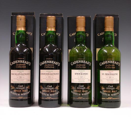 Macallan-Glenlivet-20 year old-1974Linkwood-Glenlivet-15 year old-1979Knockando-12 year old-1980St. Magdalene-10 year old-1982