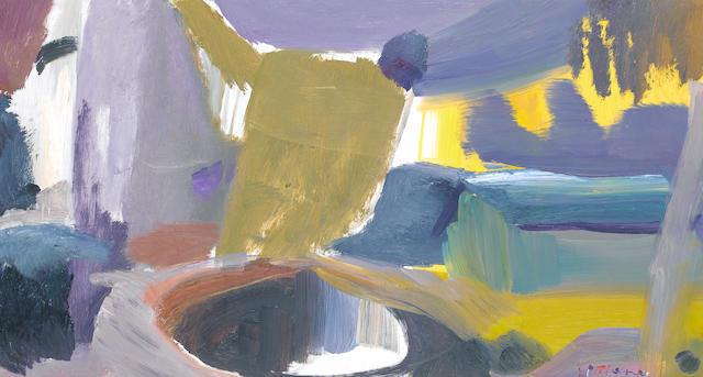 Ivon Hitchens (British, 1893-1979) Evening Pond 41 x 72.3 cm. (16 x 29 1/4 in.)