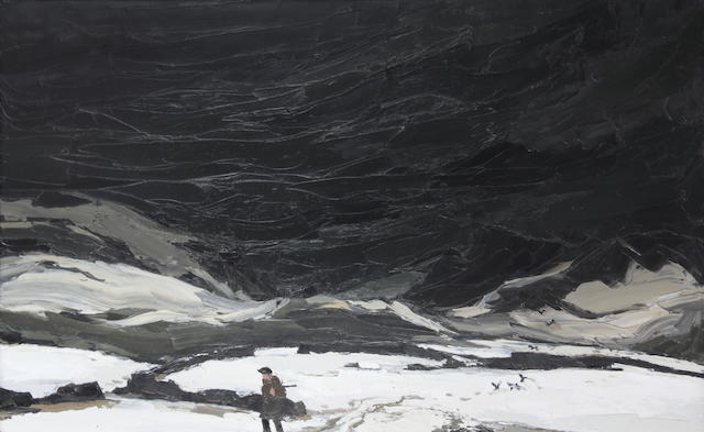 Sir Kyffin Williams, R.A. (British, 1918-2006) Farmer Pontllyfni 76 x 127 cm. (30 x 50 in.)