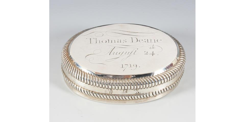 A Queen Anne silver tobacco box By Alexander Reade, London, 1703,