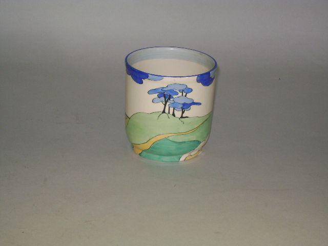 Clarice Cliff - Blue Firs small pot.