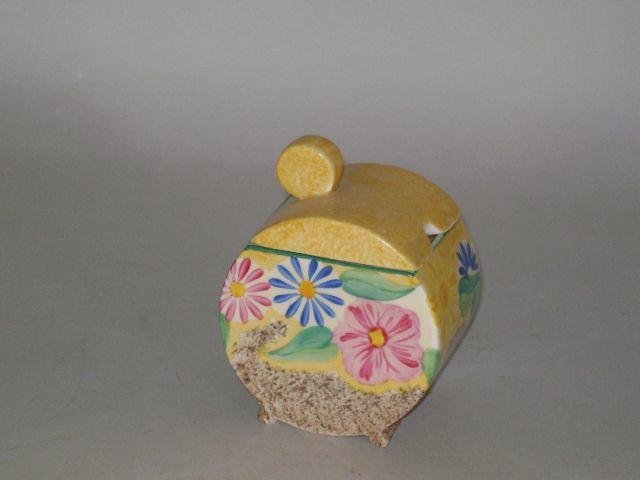 Clarice Cliff - Delecia Daisy preserve pot and cover