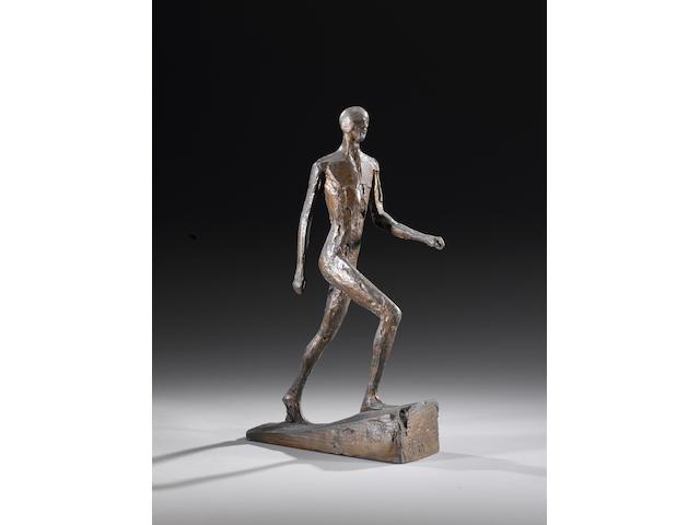 Dame Elisabeth Frink R.A. (British, 1930-1993) Man Running II 36.2 cm. (14 1/4 in.) high (including base)
