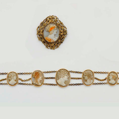 A 19th century cameo necklace