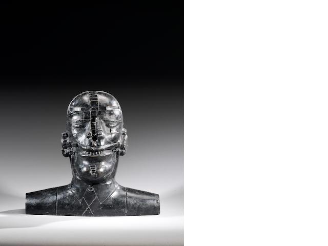 Sir Eduardo Paolozzi (British, 1924-2005) Yukio Mishima  38 cm. (15 in.) high
