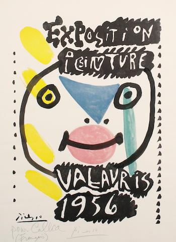 Pablo Picasso (Spanish, 1881-1973) 'Exposition Peinture Vallauris 1956'