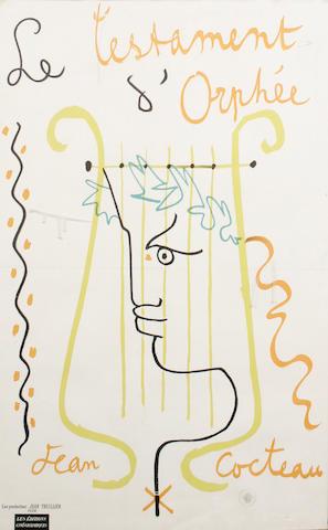 Jean Cocteau (French, 1892-1963) Le Testament d' Orphee, circa 1960