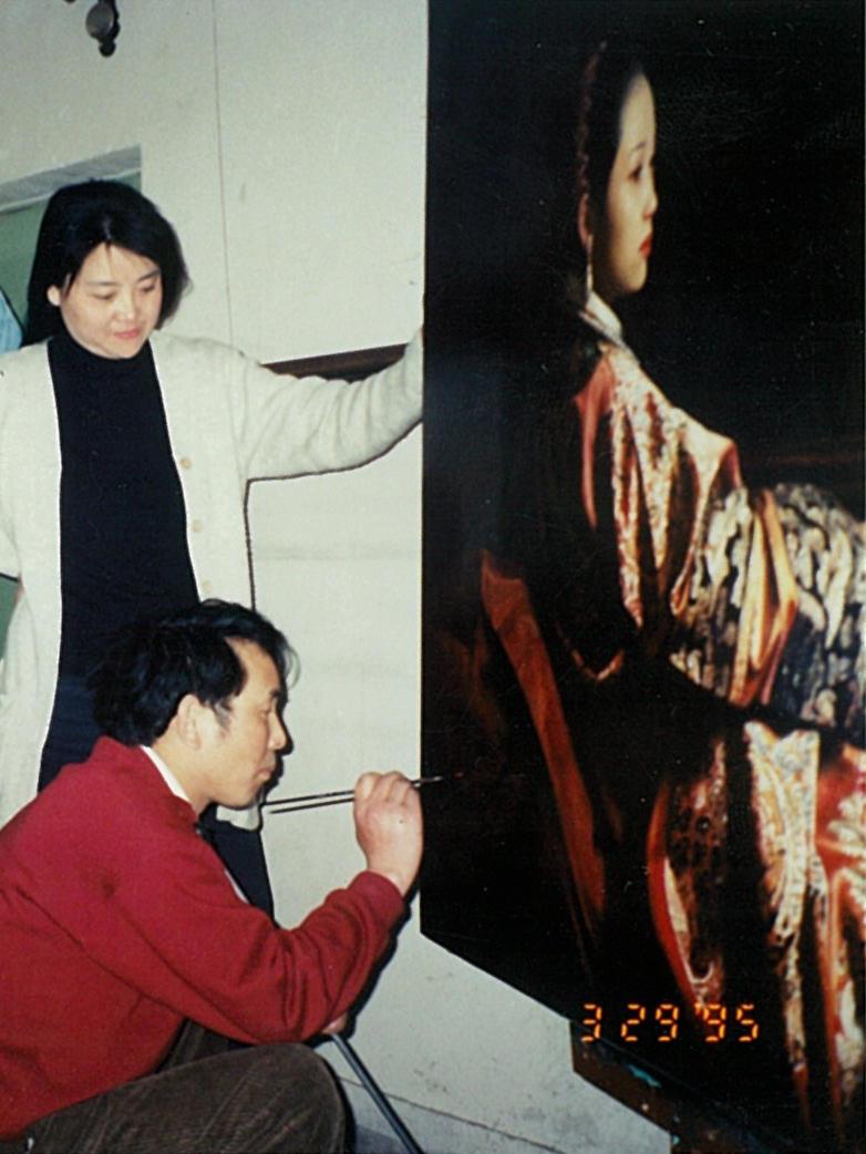 Jiang Guo Fang, 1951 - present Reclining Court Lady
