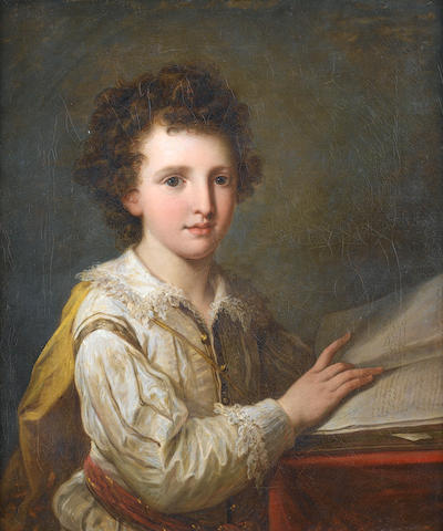 Angelica Kauffmann (Coire 1740-1807 Rome) Portrait of William Heberden the Younger, M.D.(1767-1845)