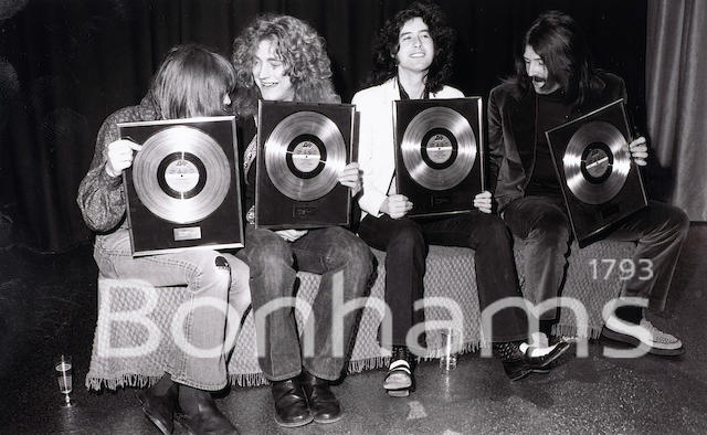 Led Zeppelin: a collection of photographs of the band at the Chat Noir club, Stockholm, March 1973,