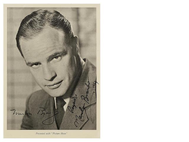 A signed 'Picture Show' photograph of Marlon Brando, 1960s,