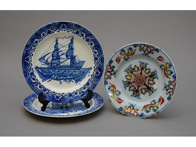 A pair of early 19th century Liverpool plates