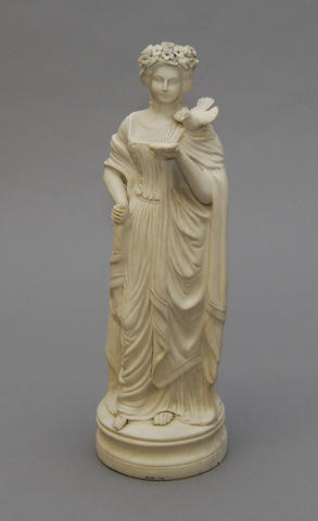 A Parian figure of a maiden