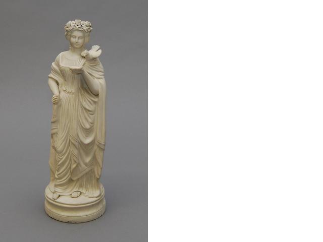 A Parian figure of a maiden