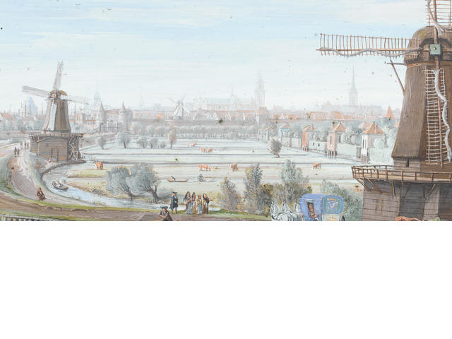 Gaspar van Wittel, called Vanvitelli (Utrecht circa 1653-1736 Rome) An extensive view of Hoorn,