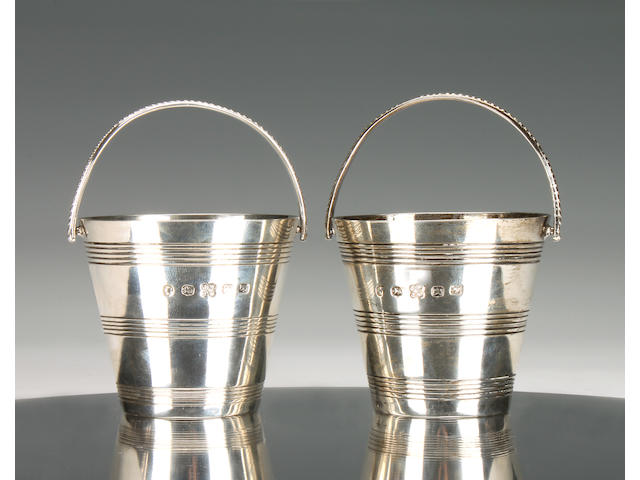 A Victorian pair of Provincial cream pails by James & Josiah Williams, Exeter 1862