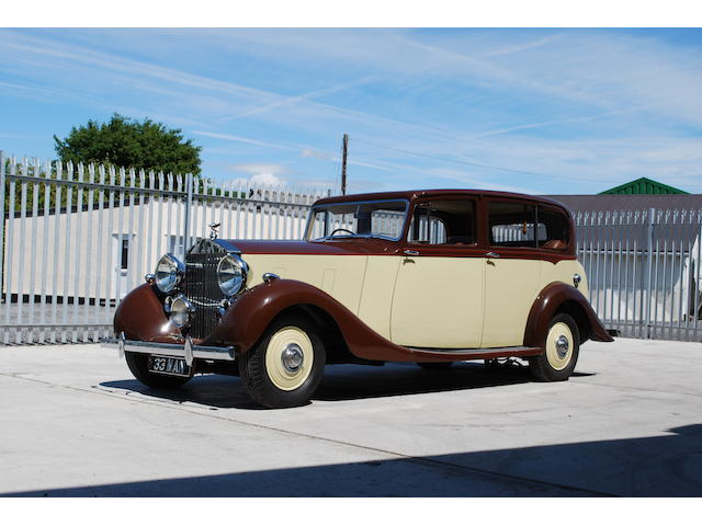 1938 Rolls-Royce Wraith Saloon  Chassis no. WMB72 Engine no. J3WP