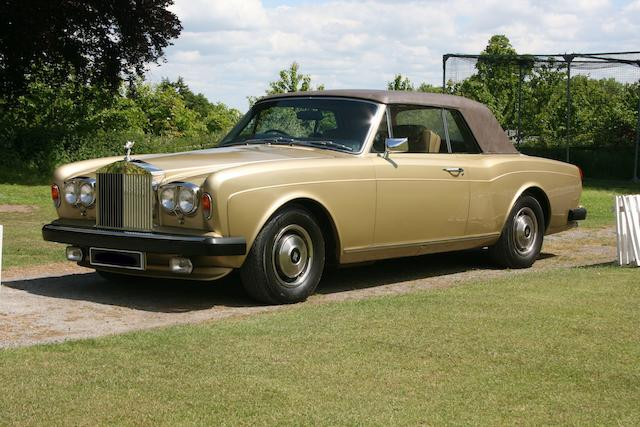 10,800 miles from new,1981 Rolls-Royce Corniche Coupé  Chassis no. DRH0050721 Engine no. 0050721