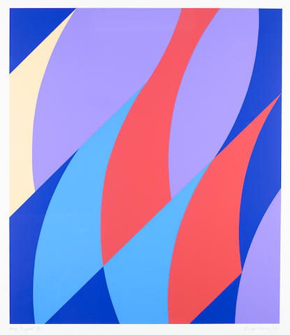 Bridget Riley (British, born 1931) Large Fragment Screenprint, 2006, printed in colours, on wove, signed, titled, dated and numbered 19/50 in pencil, 4065 x 910mm (41 4/5 x 35 3/4in)(I)