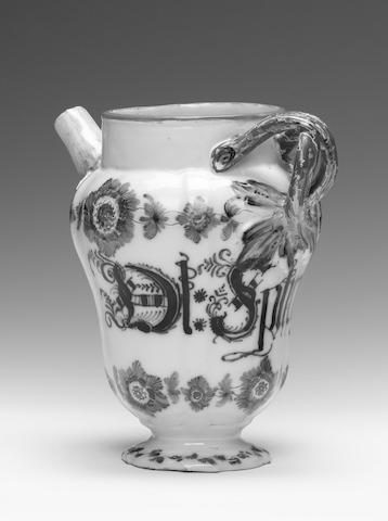 A Nove faience wet drug jar circa 1780-90